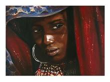 Queen of Africa Art Print - Samptoria Felice