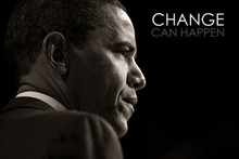 Barack Obama: Change Can Happen Art Poster