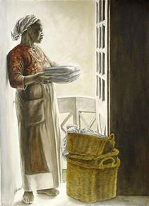 Lady by the Window Art Print - Consuelo Gamboa