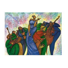 Lady With A Song Canvas Art Ready To Hang 18 x 24 - Charles Bibbs