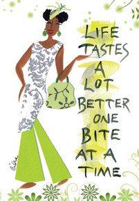 Life Tastes Better One Bite At A Time Magnet - Cidne Wallace