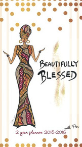 Beautifully Blessed 2015 - 2016 African American Checkbook Cover Planner