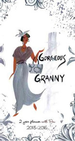 Georgeous Granny 2015 - 2016 African American Checkbook Cover Planner