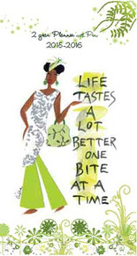 Life Tastes A Lot Better One Bite At A Time 2015 - 2016 African American Checkbook Cover Planner