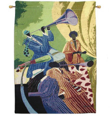 "Piano Man 18"" x 26"" Tapestry Wall Hanging"