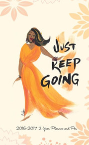 Just Keep Going 2016 - 2017 African American Checkbook Cover Planner