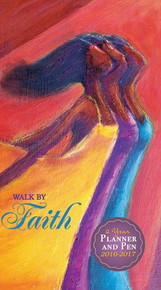 Walk By Faith 2016 - 2017 African American Checkbook Cover Planner
