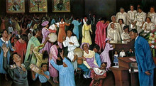 Praising The Lord(mini) Art Print - Hulis Mavruk