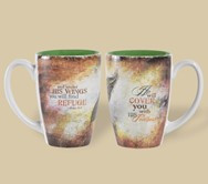 "16 oz coffee, tea or latte mugs • Image or text fully wrapped on both sides • Includes individual gift box • Dishwasher & microwave safe  ""He will cover you with His feathers and under His wings you will find refuge."" ~ Psalm 91:4"