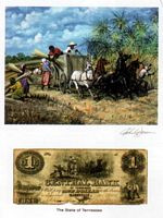 Color of Money - Slave Loading Sugar cane: Alabama Art Print - John Jones