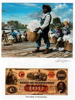 Color of Money - Slave Picking Cotton: Mississippi Art Print - John Jones