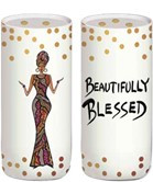 Beautifully & Blessed Salt & Peper Shakers--Cidne Wallace