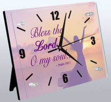 Psalm 103:1/Woman Wall Clock