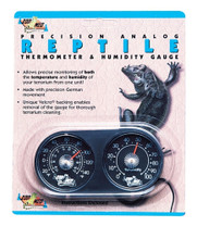 Zoo Med Dual Thermometer   Humidity Gauge