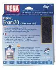 API Rena Filstar Filtration Foam 20 PPI 2pk