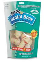 Dingo Small Dental Value Bag 9oz 6pk