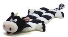 Plush Puppies Long Body Squeaker Mat Cow