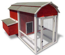 Precision Old Red Barn Chicken Coop 53X78X52