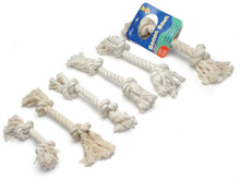 Booda 2-Knot Rope Bone White Large