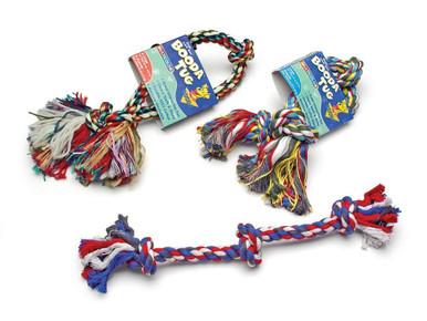 Booda 3-Knot Rope Tug Multi-Color Medium