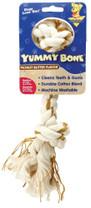 Booda Yummy 2-Knot Rope Bone Peanut Butter Medium