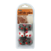 Booda Soft Bite Fur Catnip Mice Small 6pk