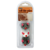 Booda Soft Bite Furcatnip Mice Large 3pk