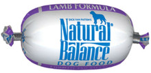 Natural Balance Lamb Formula Dog Food Roll 2.75oz