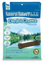 Dick Van Patten's Natural Balance Sweet Potato and Chicken Meal Formula with Mango Dental Chew for Regular Breeds