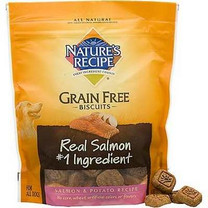 Nature's Recipe Grain Free Salmon & Potato Dog Biscuits, 14 oz.
