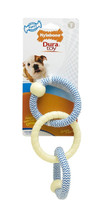 Nylabone Dura Toy Puppy Rope N Rings Small Blue Chew