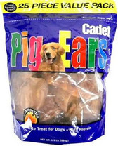 Cadet 25-Pack Pig Ears Dog Chews