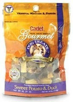 Cadet Gourmet Sweet Potato & Duck Wraps Resealable Bag 3.6oz