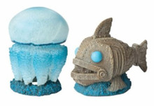 Hydor H2shOw Atlantis Jellyfish & Fish Resin Ornament Foreground Decor