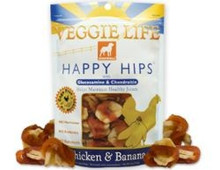 DOGSWELL VEGGIE LIFE HAPPY HIPS Chicken & Banana with Gluosmine & Chondroitin 15oz