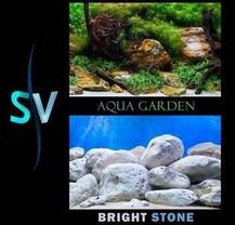 SeaView Aqua Garden/Bright Stone Background 12inx50ft