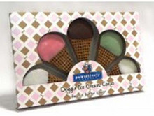 5 Icecream cones in an attractive giftbox decorated with carob and yogurt