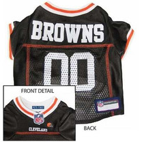 Cleveland Browns NFL Dog Jersey - Large