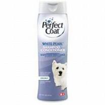 8 in 1 Perfect Coat White Pearl Shampoo & Conditioner 16oz