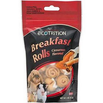 eCotrition EC-84212 2-Ounce Breakfast Rolls Animal Treat, Small, Cinnamon Flavored