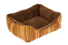 Aspen Pet Fashion Rectangular Plush LoungerStripe Chenille