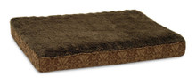 Aspen Pet Ortho Bed With Piping On Top Edge Assorted Plush Jacquard 20inX30in