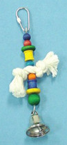 Bird Brainers Rope and Bell Toy 7in