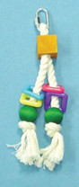 Bird Brainers Toy w  Rope & Beads 8in