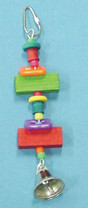 Bird Brainers Toy w  Wood Blocks & Bell 8in