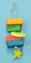 Bird Brainers Toy w  Wood Blocks and Star 7.5in