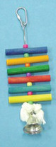 Bird Brainers Dowel Toy w  Bell 8in
