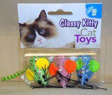 North American Pet Classy Kitty Shiny Mice 3pk