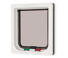 Ani Mate Cat May 4 Way Locking Cat Flap White