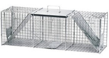 Havahart Two-Door Cage Raccoon Sized Trap 2 Spring Loaded Doors 36x10x12